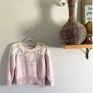 Vintage Cropped designed sweater | S